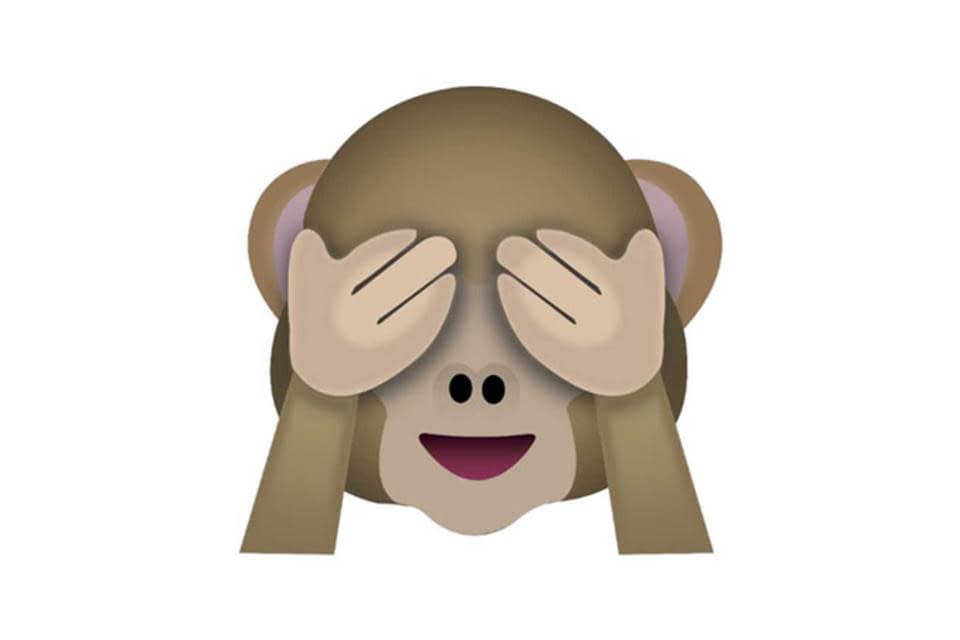Der Kniehammer - Affe mit zugehaltenen Augen