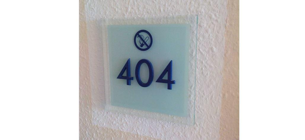 Raucher gegen Nichtraucher - Nichtraucher Hotelzimmer Nr. 404