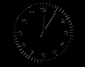 Neujahrsvorsätze - Ziffernblatt als Symbol