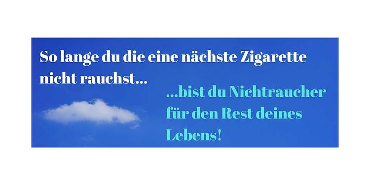 Nichtraucher werden und bleiben - Rauchstopp Brandenburg - Symbolbild mit Text