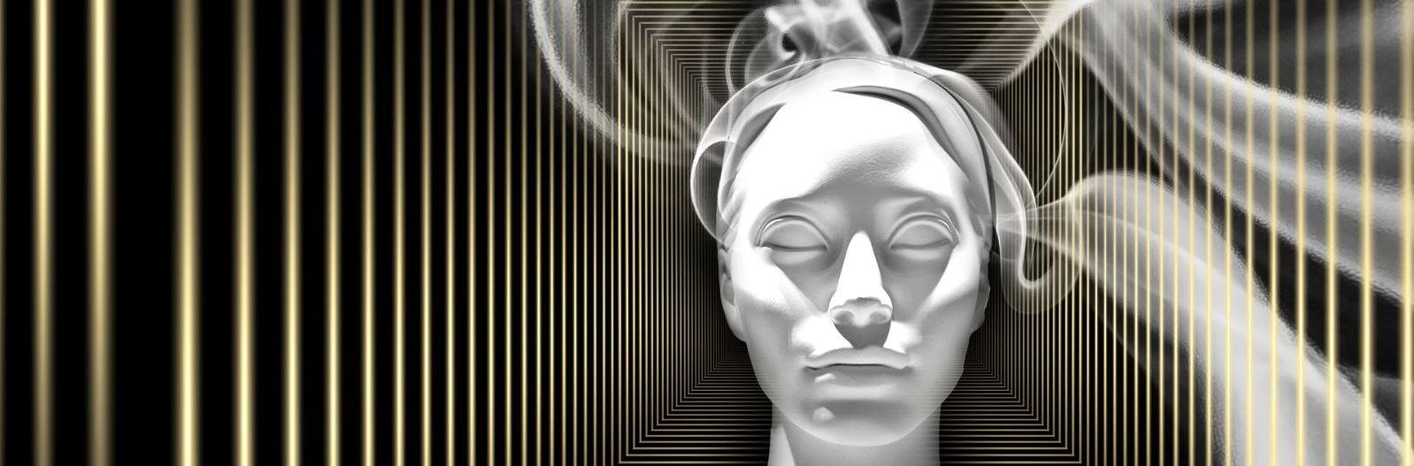 Raucherentwöhnung - ich will das jetzt - Rauchender Kopf als Symbol