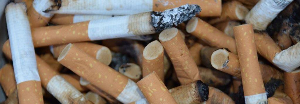 Raucherentwöhnung Brandenburg - alte Zigarettenkippen