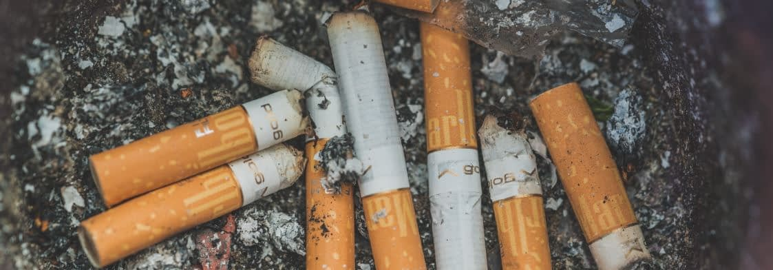 Nichtraucher werden - alte Kippen